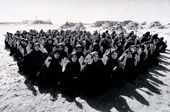 Shirin Neshat Rapture 1999 two-channel video/audio installation, 16mm film transferred to video