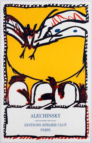 Alechinsky art exhibition poster www.antikbar.co.uk