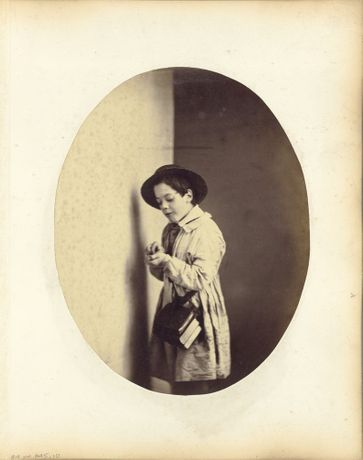 Oscar Gustave Rejlander,The Participles or Grammar for Little Boys: Caught, 1857.Courtesy of The J. Paul Getty Museum, Los Angeles