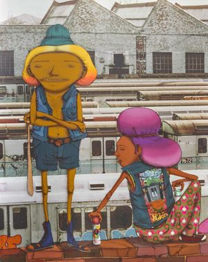 OSGEMEOS and Martha Cooper, The Playground, 2016.