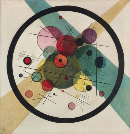 Wassily Kandinsky [1923] Circles in a Circle. Oil on canvas, 98.7 x 96.6 cm