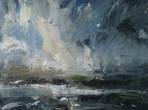 'Windswept' 60x80cm oil on linen by Hannah Ivory Baker
