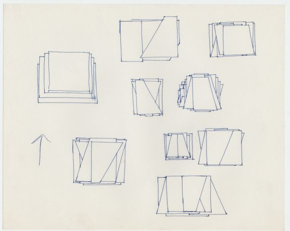 Jeremy Moon 'Working Drawing' 1973