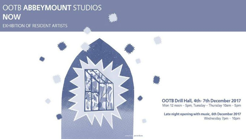 Poster for 'OOTB Abbeymount Studios NOW' exhibition.