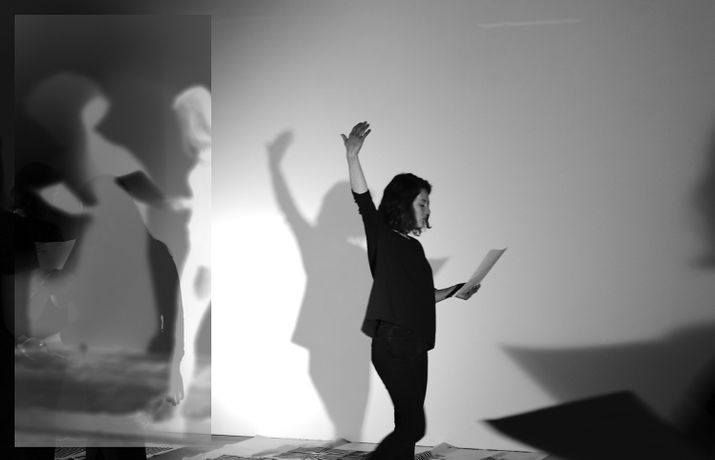 Image Credit: Documentation from PLAY SENSE (a workshop) by Fay Nicolson. With artist/performers with Holly Antrum, Kristen Bullivant, Esme Charteris, Rose O'Gallivan, Jenny Moore, Vienna Orme-Williams, Alice Theobald and Louise Waite.