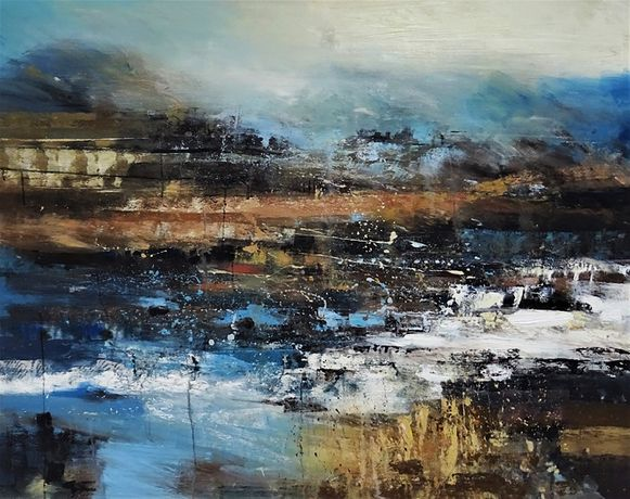Remains in Skye. 130x150cm. Claire Wiltsher