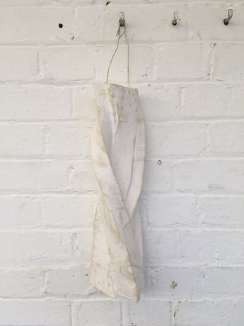 'Fingers Crossed', Jesmonite, plaster, foam, steel wire. 12 X 15 X 36 cm high. 2017