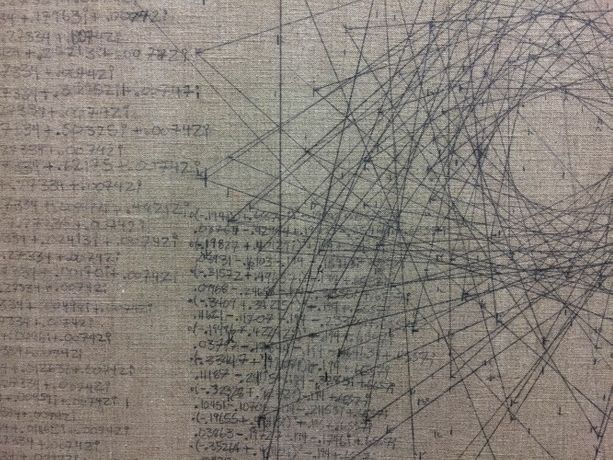 OWEN SCHUH (detail) Bounded Iteration in the Complex Plane (Other-Fractal), 2006 Graphite on linen 59.06 x 59.06 in (150.01h x 150.01w cm) OS076