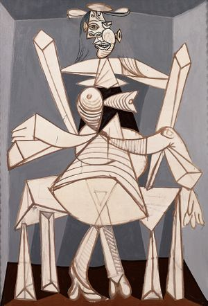 Pablo Picasso Málaga,1881-Mougins, Alpes Maritimes, France, 1973 Femme assise dans un fauteuil (Dora) [Woman Sitting in an Armchair (Dora)], 1938 Oil on canvas Fondation Beyeler, Riehen/Basel, Switzerland