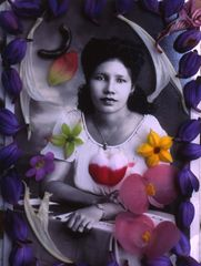 Albert Chong, Aunt Winnie, 1995. Archival inkjet print on canvas, 52 1/2 x 36 in. Courtesy of the artist. © Albert Chong.