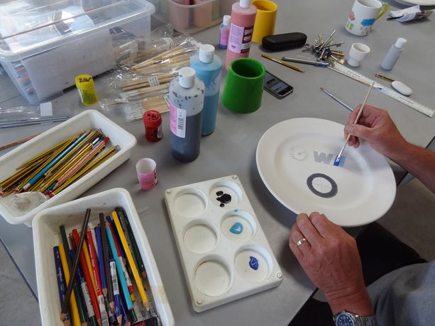 Paint a Pot Workshops at The Harley Gallery