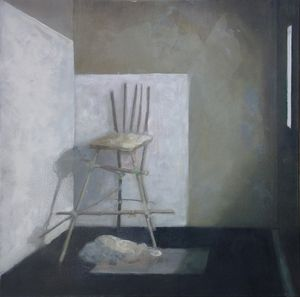 'Julian's Chair'. Oil on canvas. Trevor Weinle