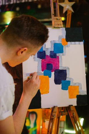 Paint Jam Night 'Abstract' - social painting, Dj, Prosecco: Image 0