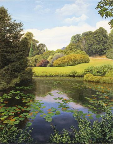 'Lily Pond, Scotney Castle' by Michael James Smith