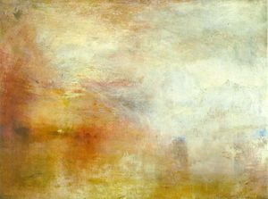 Painting Turner's Setting Sun over a Lake