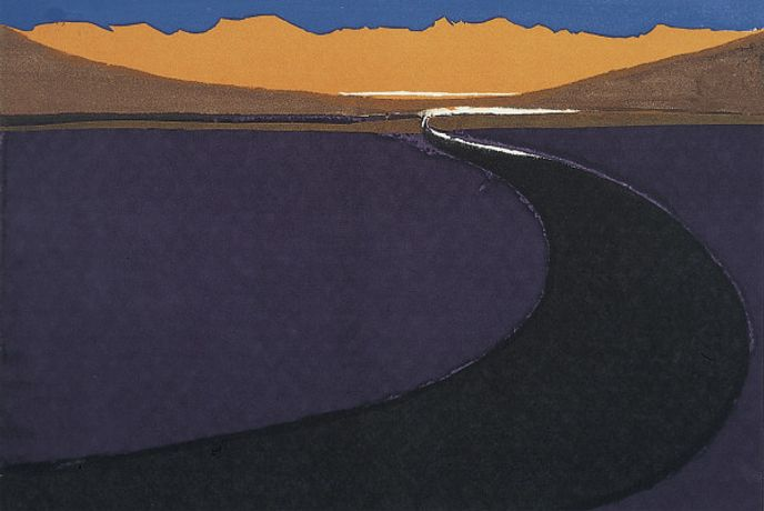 Pamela Scott Wilkie, Central Turkey (1970). Silk screen print.