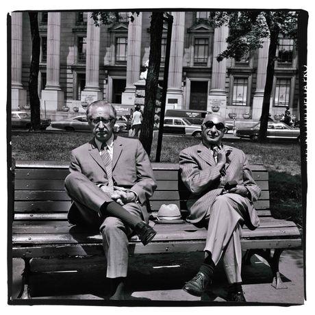 Two Men on a Park Bench, Montréal, 1972