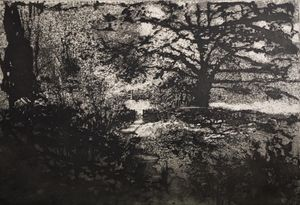 Norman Ackroyd, Low Mill, Etching