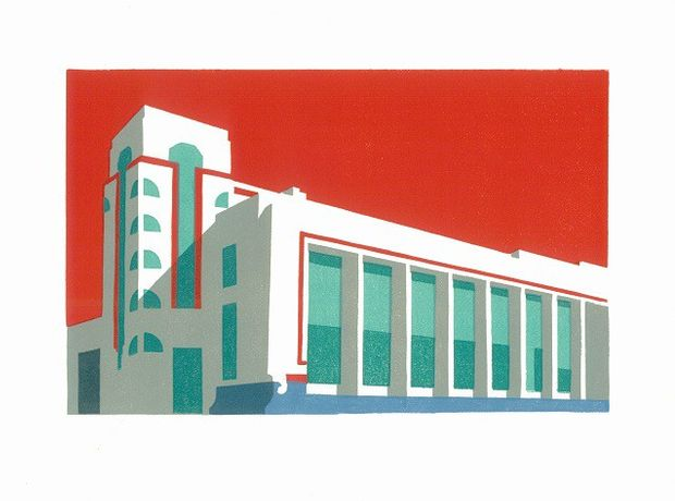 Hoover Red Building by Paul Catherall