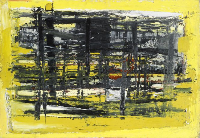Paul Feiler, January, Yellow and Black, 1957. Courtesy of Paul Feiler Estate 2018.