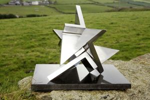 Paul Mount, Tetrak (1975), Stainless Steel (Three Parts), Unique, H28 x W38cm (11 x 15 inches)