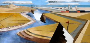 Paul Nash, The Rye Marshes, 1932, oil on canvas Ferens Art Gallery: Hull Museums.