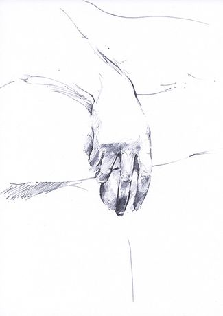 Paul P. Untitled (La Jeunesse d'Aristote, hand with sphere), 2014