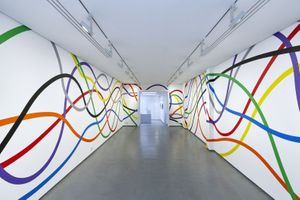 Sol LeWitt Wall Drawing #1183: Eight bands of color, from 2005