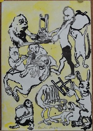 Study for Opera series [6] (1982), copyright Paula Rego, courtesy Marlborough Fine Art