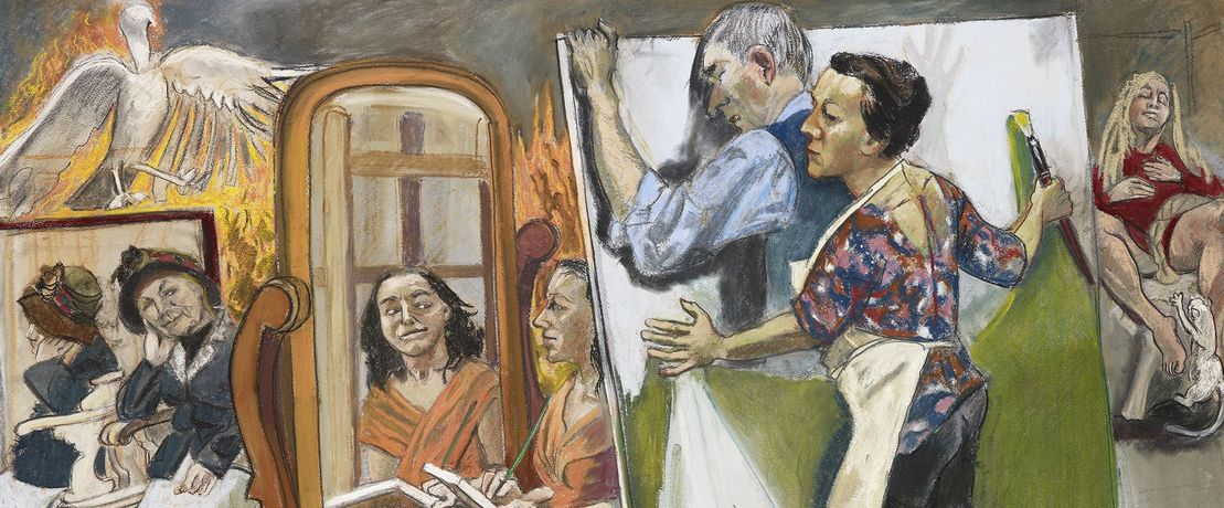 Paula Rego, Painting Him Out, 2011. Private Collection. © Copyright Paula Rego, Courtesy Marlborough Fine Art.