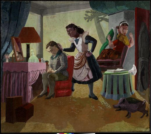 Paula Rego The Maids, 1987 Acrylic on paper on canvas 213 x 244 cm © Paula Rego Courtesy Marlborough International Fine Art