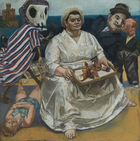 Paula Rego The Cake Woman, 2004. Pastel and paper mounted on aluminium 150 x 150 cm © Paula Rego Courtesy Marlborough Fine Art