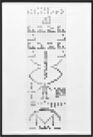 ANDREAS DUSCHA, Arecibo (positiv), 2016, ink print through on paper 150 x 100 cm