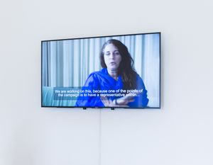 Speak: Tania Bruguera, Transforma tus ideas en acciones cívica / Transform your ideas into civic actions, 2017; Installation view, Serpentine Sackler Gallery, London (1 March 2017 – 21 May 2017); Image © Mike Din