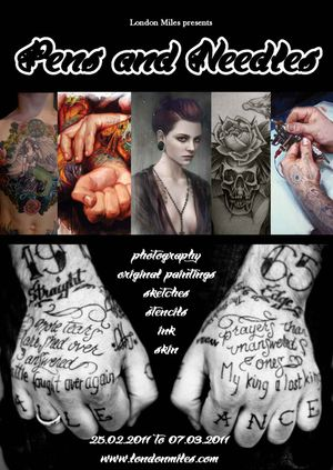 Pens and Needles- An exhibition celebrating tattoo art, culture and lifestyle