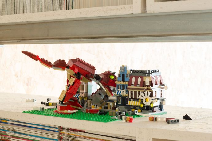 Mark Siebert, Our Apocalypse – Monster Attack!!!, lego. Image: Ben Blossom