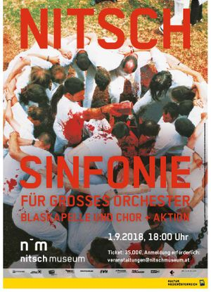 Performance with symphony of Hermann Nitsch