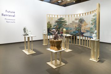 Installation view of Permanent Spectacle by Future Retrieval at the Fuller Craft Museum, Brockton, MA.