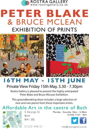 Peter Blake & Bruce McLean Exhibition of Prints