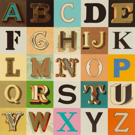 Peter Blake 'Appropriated Alphabet 9' 2013 Silkscreen