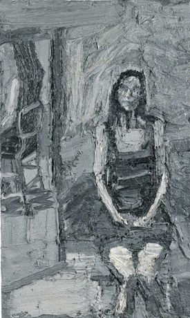 Seated Woman with Mirror, Peter Clossick