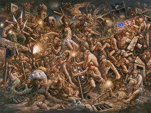 Peter Howson. Prophecy, 2016 - Oil on canvas