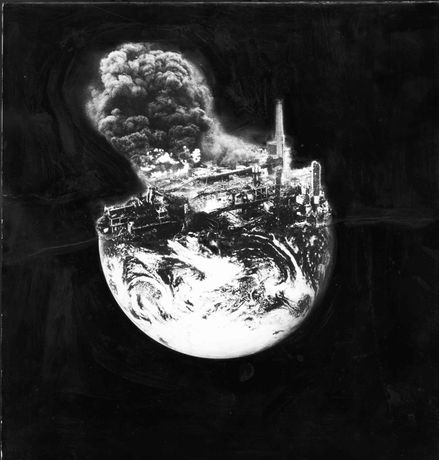 'Earth Oil Explosion' by Peter Kennard (© Peter Kennard)