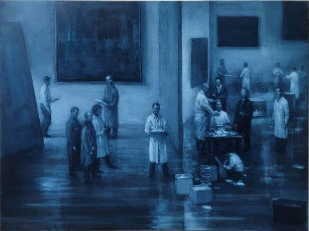 Peter Martensen, The Studio, oil on canvas, 75 x 100 cm, 2020