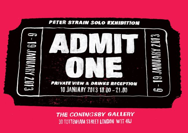 Peter Strain: Admit One: Image 0