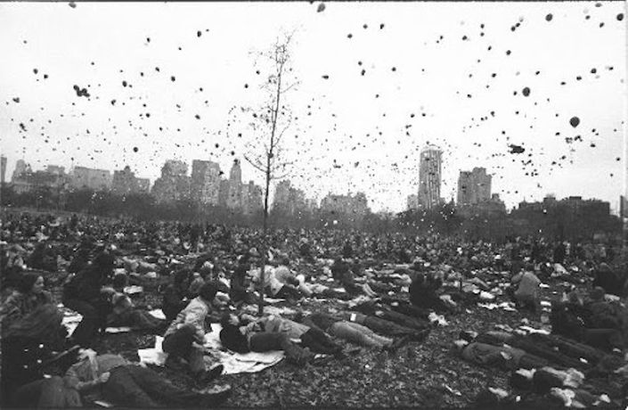 Garry Winogrand, Peace Demonstration, Central Park, New York, 1970 Gelatin silver print, 11 x 14 in. ©️The Estate of Garry Winogrand, Courtesy of Etherton Gallery