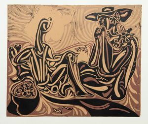 Pablo Picasso 'After The Vintage' (1962) Linocut  £495