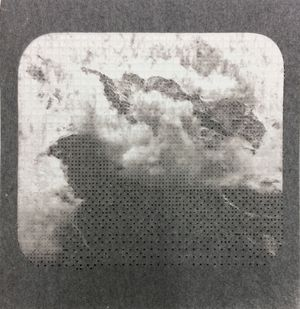 Caroline Jane Harris, 'A Blanket of Sky', Hand-cut lens tissue and archival pigment print, 2019