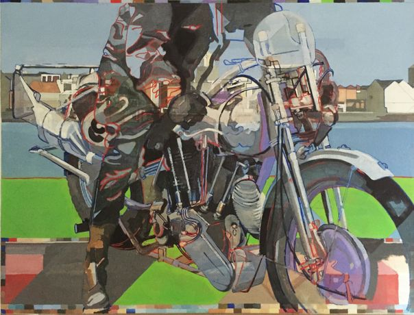 The Purple Bike, Spice Island - oil on canvas 92 x 122 cm
