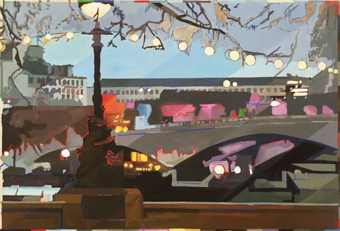 The Ladies Bridge (Waterloo) - oil on linen 106 x 155 cm